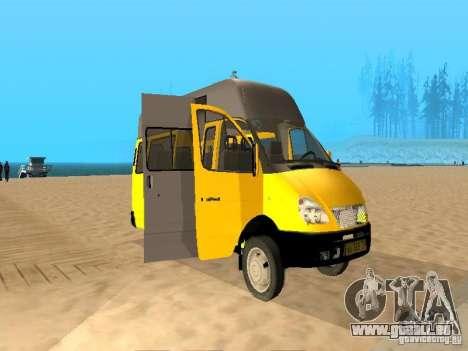 Taxi de Gazelle 32213 pour GTA San Andreas laissé vue
