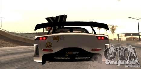 Mazda RX-7 MyGame Drift Team pour GTA San Andreas sur la vue arrière gauche