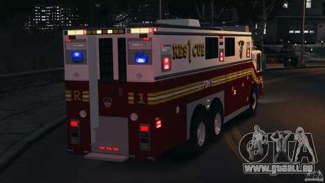 FDNY Rescue 1 [ELS] für GTA 4 Innen