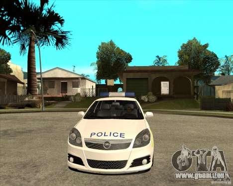 2005 Opel Vectra Police für GTA San Andreas Rückansicht