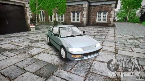 Honda CRX 1991 für GTA 4 Innenansicht