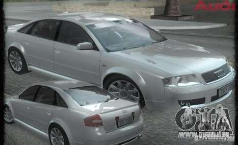 Audi RS6 (A6) für GTA San Andreas Rückansicht