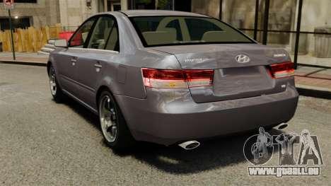 Hyundai Sonata 2008 pour GTA 4 Vue arrière de la gauche