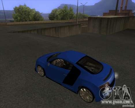 Audi R8 5.2 FSI pour GTA San Andreas laissé vue