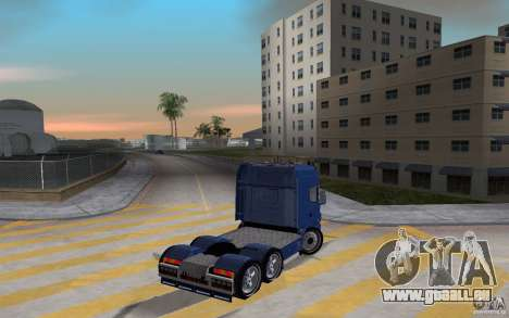 SCANIA 164L 580 V8 pour GTA Vice City sur la vue arrière gauche