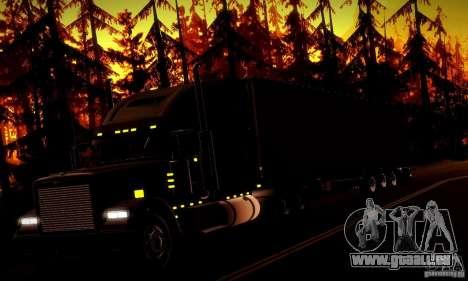 Freightliner Classic XL pour GTA San Andreas vue de dessous