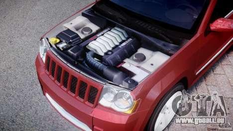 Jeep Grand Cherokee pour GTA 4 est une vue de l'intérieur