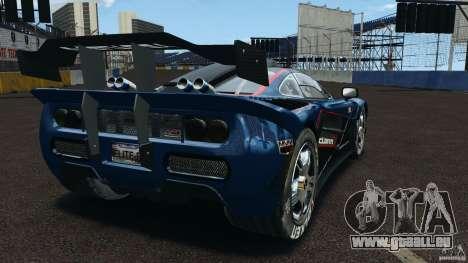 McLaren F1 ELITE pour GTA 4 Vue arrière de la gauche