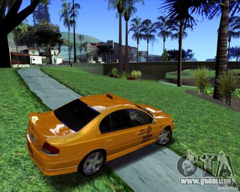 Ford Falcon XR8 Taxi pour GTA San Andreas laissé vue
