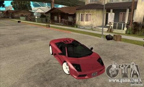 Lamborghini Murcielago Roadster Final pour GTA San Andreas vue arrière