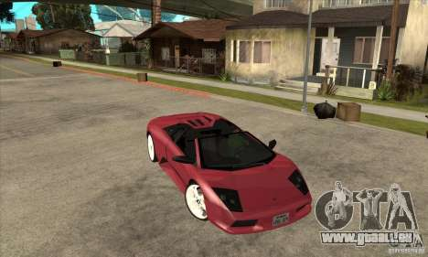 Lamborghini Murcielago Roadster Final für GTA San Andreas Rückansicht