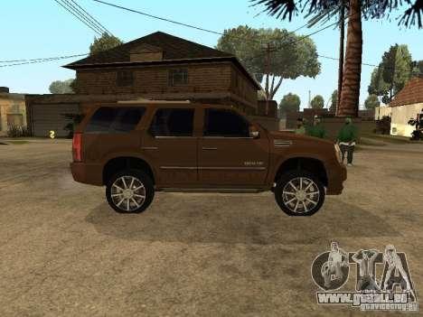 Cadillac Escalade pour GTA San Andreas laissé vue