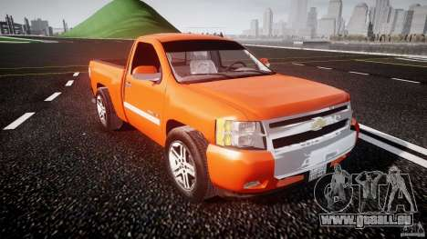 Chevrolet Silverado 2011 pour GTA 4 est une vue de l'intérieur
