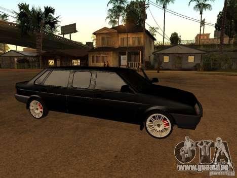 VAZ 21099 Limousine pour GTA San Andreas sur la vue arrière gauche