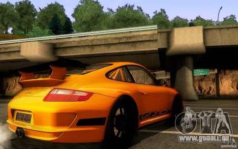 Porsche 911 GT3 RS pour GTA San Andreas vue de dessus