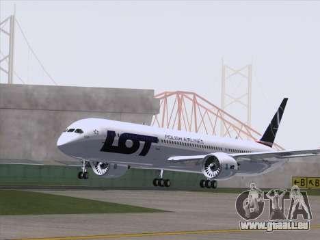 Boeing 787-9 LOT Polish Airlines für GTA San Andreas rechten Ansicht