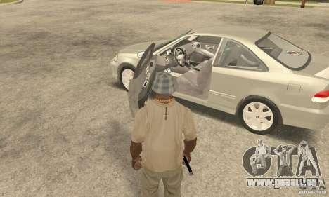 Honda Civic 1998 pour GTA San Andreas vue arrière
