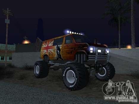 Ford Grave Digger pour GTA San Andreas vue intérieure