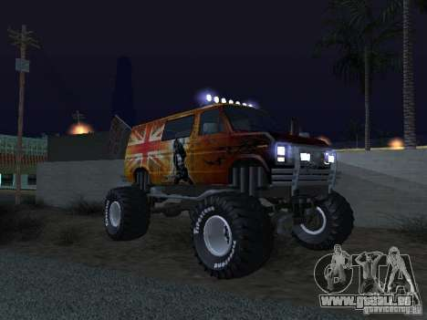 Ford Grave Digger für GTA San Andreas Innenansicht