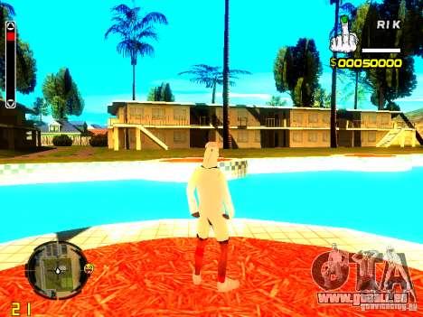 Haut Penner v9 für GTA San Andreas her Screenshot