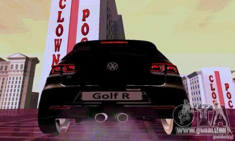 Volkswagen Golf GTI 2011 pour GTA San Andreas sur la vue arrière gauche