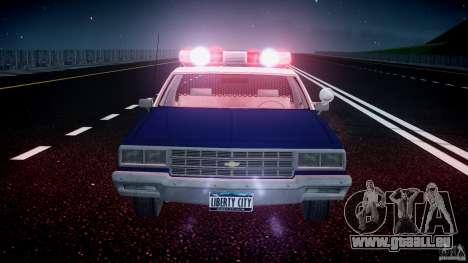 Chevrolet Impala Police 1983 [Final] für GTA 4-Motor