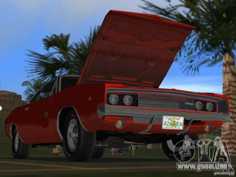 Dodge Charger 426 R/T 1968 v1.0 pour GTA Vice City Salon