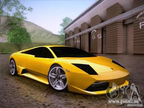 Lamborghini Murcielago LP640 für GTA San Andreas Innenansicht