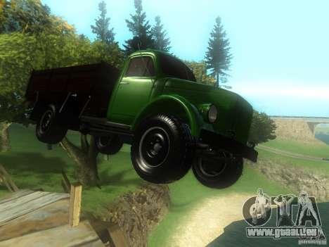 GAZ-63 für GTA San Andreas Rückansicht