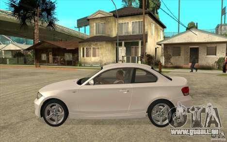 BMW 135i Coupe pour GTA San Andreas sur la vue arrière gauche