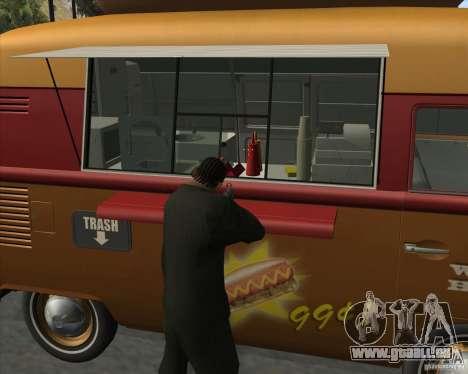 Volkswagen Transporter T1 Hot Dog für GTA San Andreas rechten Ansicht