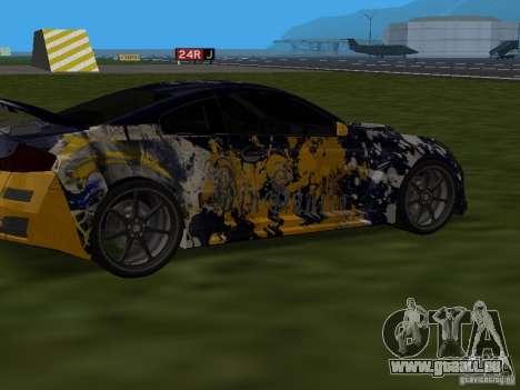Infinity G35 Binsanity für GTA San Andreas zurück linke Ansicht