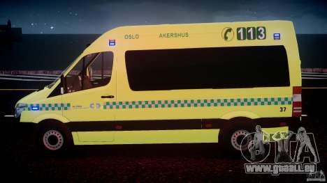Mercedes-Benz Sprinter PK731 Ambulance [ELS] für GTA 4-Motor