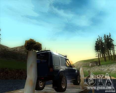 Landrover Discovery 2 Rally Raid pour GTA San Andreas laissé vue