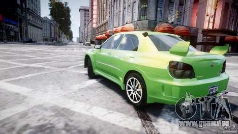 Subaru Impreza STI Wide Body pour GTA 4 est une vue de dessous