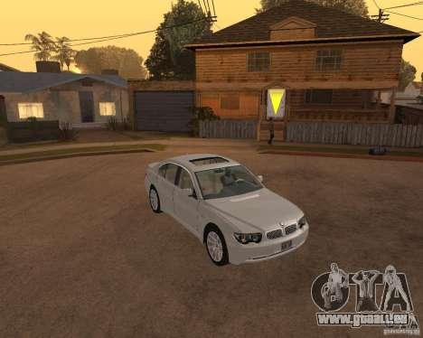 BMW 760I 2002 pour GTA San Andreas vue de droite