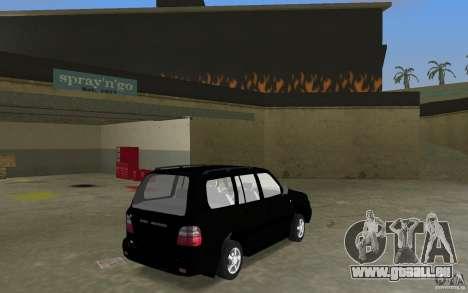 Toyota Land Cruiser 100 VX V8 pour GTA Vice City sur la vue arrière gauche