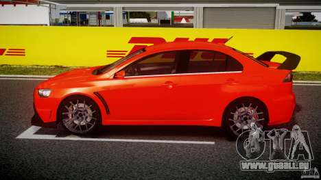 Mitsubishi Lancer Evo X 2011 pour GTA 4 est une gauche