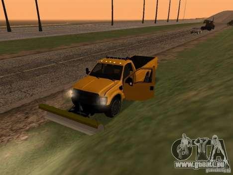 Ford Super Duty F-series pour GTA San Andreas vue arrière