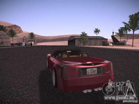 Cadillac XLR 2006 pour GTA San Andreas vue de droite