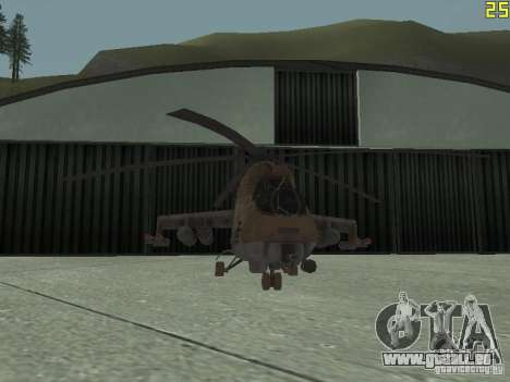 Mi-24p Desert Camo pour GTA San Andreas vue de côté
