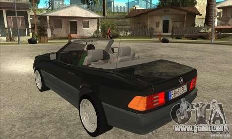 Mercedes SL-class 1995 pour GTA San Andreas sur la vue arrière gauche