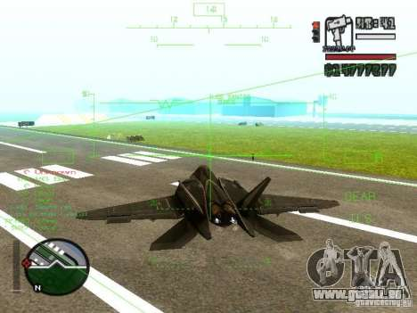Xa-20 razorback pour GTA San Andreas laissé vue