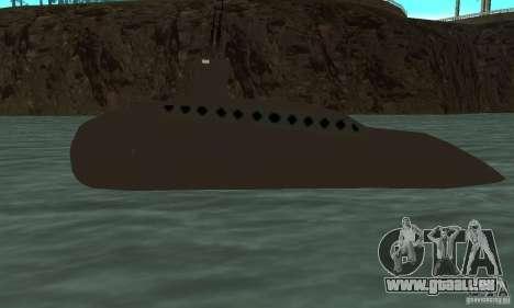 Uboot pour GTA San Andreas laissé vue