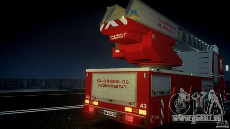 Scania Fire Ladder v1.1 Emerglights blue [ELS] für GTA 4 Innen