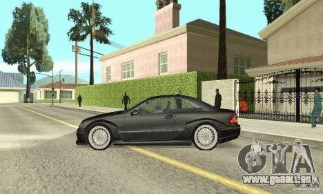 Mercedes-Benz CLK DTM AMG pour GTA San Andreas sur la vue arrière gauche