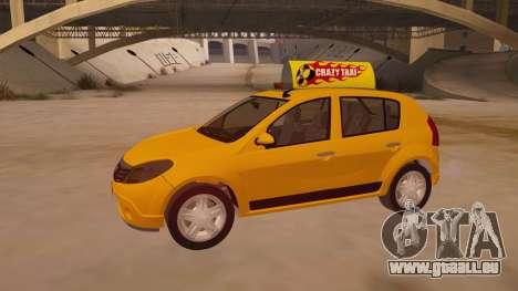 Renault Sandero Taxi pour GTA San Andreas vue de dessous