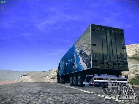 Remorque pour Scania R620 Dubaï Trans pour GTA San Andreas