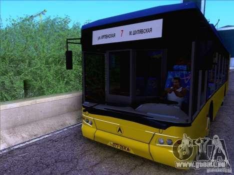 ElectroLAZ-12 pour GTA San Andreas sur la vue arrière gauche