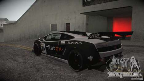 Lamborghini Gallardo LP560-4 GT3 pour GTA San Andreas vue de dessus